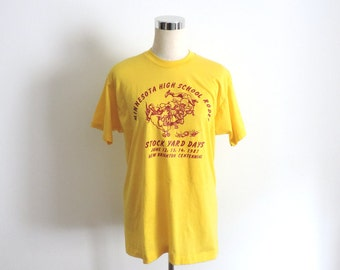 1987 Minnesota Rodeo T Shirt Medium Large
