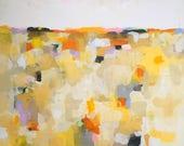 Large Yellow Abstract Lan...