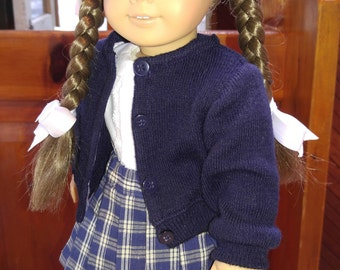 NAVY Cardigan Sweater 18 inch doll clothes