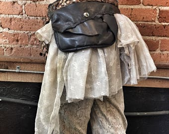 Faerie Tutu Festival Skirt / Festival Belt/ Tutu HipBelt / Fairy Tutu / Steampunk Skirt