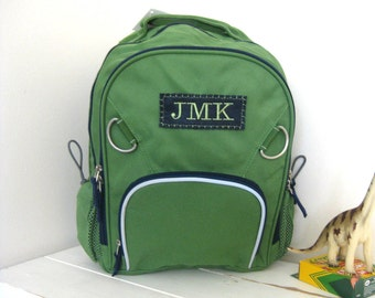Small Green/Navy Fairfax Backpack (Small Size)