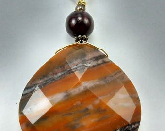 Polished Faceted Jasper Pendant - New -238 A