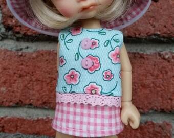 PINK GINGHAM  made to fit Irrealdoll (Ino, Enyo, Dryo) by Darla