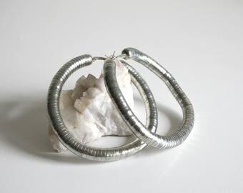 Oversized Tube Hoop Earrings