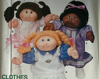Cabbage Patch Kids Doll Clothes Pattern Butterick 6934 Dress and Pinafore