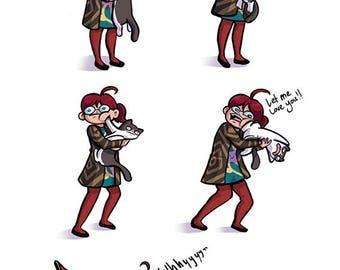 Affection - comic print