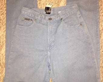 Vintage Calvin Klein Women's Mom Jeans Size 6 Blue Denim High Waisted New With Tags