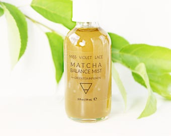 Matcha Tea Face Mist | Green Tea Toner with Jasmine, Citrus and more | 100% natural and vegan