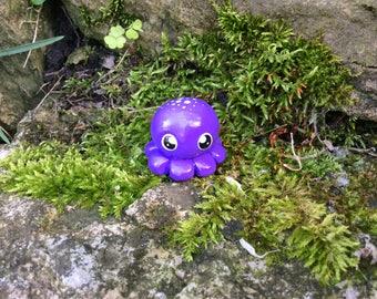 Polymer Clay Figurine Purple Octopus