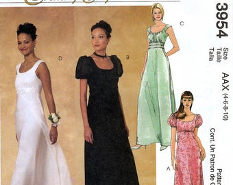McCall's Evening Elegance 3954 Sewing Pattern for Misses' Dress - Uncut - Size 4, 6, 8, 10