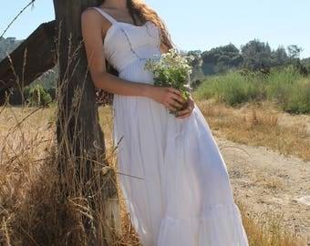 WILDFLOWER Wedding Dress Gunne Sax Dream Dress Maxi Length Boho Extra Small