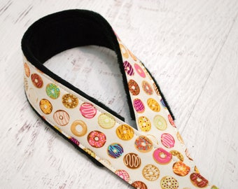 DSLR Camera Strap - Nikon Camera Straps - Padded Camera Strap - Camera Neck Strap - Canon Strap - Camera Gifts  -  Donuts