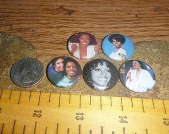 DIANA ROSS 5 Buttons one inch pinback badge set