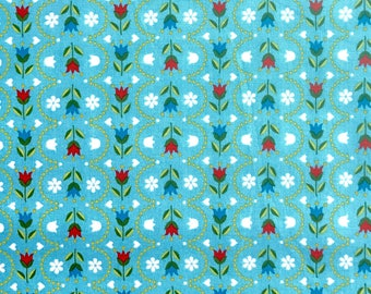 Dutch tulips fabric from Riley Blake designs 100% cotton fabric for Quilting and general sewing projects.