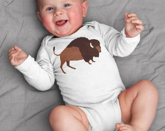 Baby boy clothes, Buffalo baby bodysuit for baby boy, coming home outfit, unique baby gift