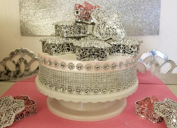 12 New Silver Royal Princess Baby Shower Square Like Design