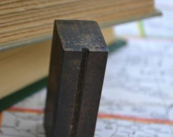 Vintage Antique Printmaking Letterpress Type Wood Block Letter U