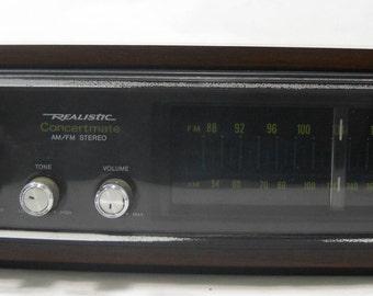 Vintage Radio Shack Realistic Concertmate AM/FM Stereo Radio Free Shipping