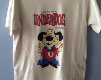 Vintage Underdog T-Shirt, 1990's T-Shirt, Cartoon T-Shirt, Super Hero Dog
