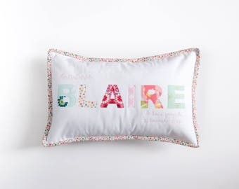 Custom Quilted Name Pillow