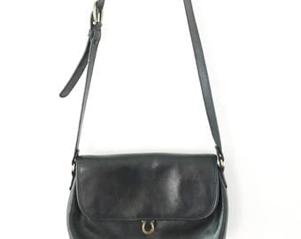 Vintage Vegan Leather Cross Body Bag / Etienne Aigner