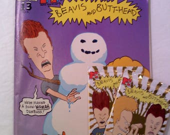 Beavis and Butthead Comic Book and Trading Cards