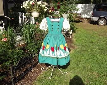 Girls Size 10 Vintage Costume Heidi, Secret Garden, Rebecca of Sunnybrook Farms  Dress