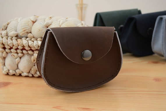 Change purse,leather coin purse,brown coin purse,pocket coin purse,leather wallet,mens wallet,mini coin purse,minimalist purse,brown wallet