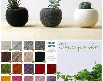 Hygge decor / Succulent planter / air plant holder / cactus pot / plant vase / modern decor / set of 3