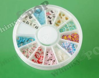 1 - Nail Art Wheel Fimo Christmas Slices, Christmas Holiday Nail Art, Nail Art (C1---)
