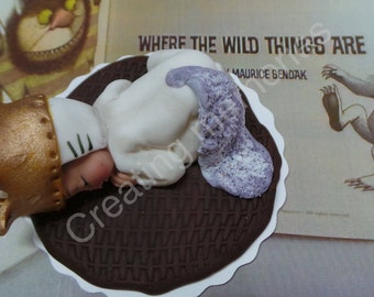 Where the WILD things ARE Cake Topper, Made of vanilla fondant for your little one's first birthday or any other celebration