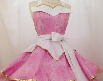 Aurora Costume Apron, Cosplay Sleeping Beauty, Fairy Tale Princess