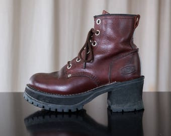 chunky platform boots - 6 women