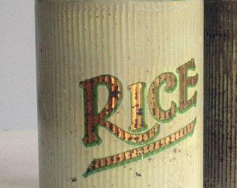 reserved vintage tea food tin