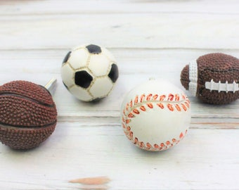 Sports Drawer Knobs, Baseball Knob, Basketball Knob, Football Knob, Soccer Knob, Drawer Pulls, Sports Theme Decor, Cabinet Knobs