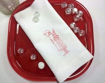 SALE! Vintage Santa Christmas Cloth Napkins, Christmas napkins, Christmas Dinner Napkins, Christmas Embroidered Napkins