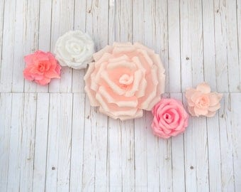 5 PC Mixed Paper Flowers