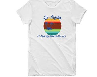 Los Angeles I lost my soul on the 405 retro tee