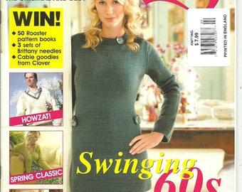 Knitting UK Magazine April 2006 Issue 23 Spring Back Issue Swinging 60's