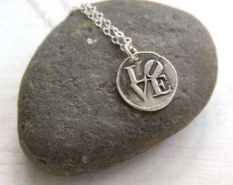 Love necklace, wax seal necklace, wax seal jewelry, philadelphia, everyday jewelry, charm necklace
