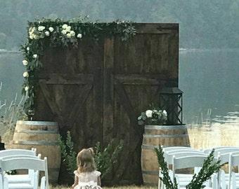 Barn Door Replica Rustic Backdrop Wedding Headboard Photography Party  By Foo Foo La La