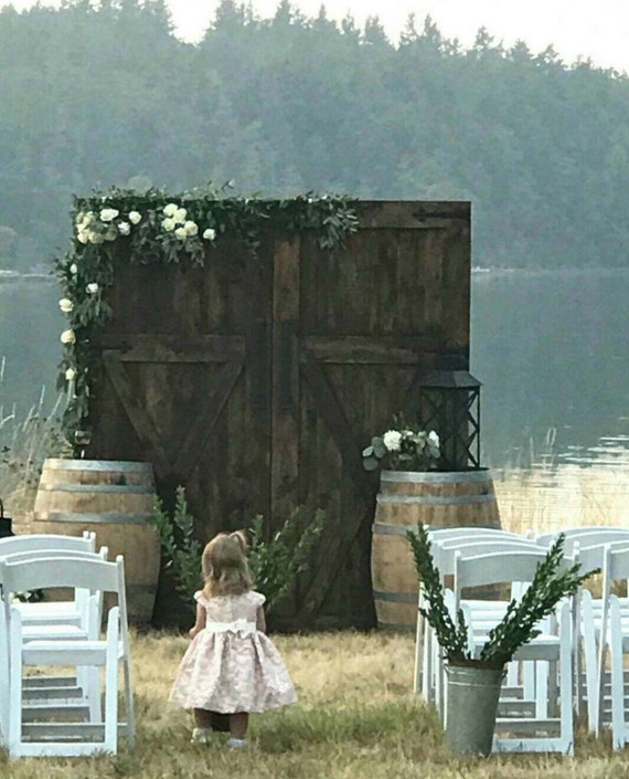 Rustic Door Wedding Ideas: Barn Door Replica Rustic Backdrop Wedding Headboard