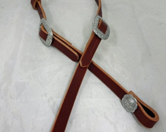 West Coast Tack British Brown Bridle Leather Slip One Ear Headstall Western Horse Tack Jeremiah Watt Buckles Conchos