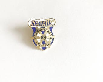 1989 Seattle Seafair 40th Anniversary Enamel Pin