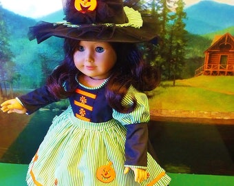 Storybook Witch Costume for Halloween - Fits American Girl Dolls