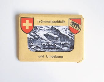 Vintage Set of Trummelbach Falls Small Postcards - Set of Vintage Swiss Postcards - Souvenir Pack