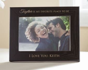 Personalized Love Picture Frame (Black): Romantic Gift, Love Gift, Girlfriend Gift, Boyfriend Gift, Wife Gift, Fiance Gift, SHIPS FAST