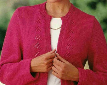 Patons Book 2112 Jackets with Style in 8 ply yarns womens knitted jacket or button up cardigan 4 styles in Sizes 6-8/10-12/14-16/18-20