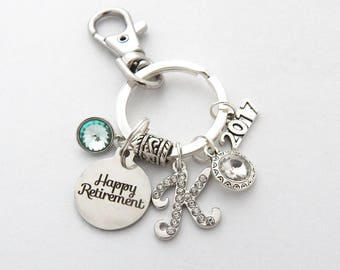 Personalized RETIREMENT KEYCHAIN, Retirement Gift, Retirement Keyring, Retirement Accessory, Happy Retirement Gift for her, We'll Miss You