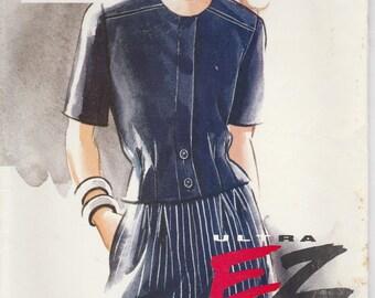 Easy 90s Top & Shorts Pattern Vogue 8964 Sizes 12 14 16 Uncut